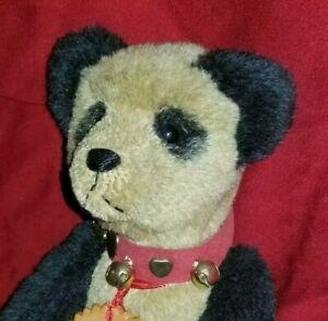 "Enchanted Bears Sharon LaPointe artist panda teddy bear 11"" mohair"