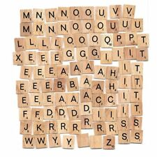 Individual Tiles Letters Numbers Wooden Scrabble For Craft Alphabet Game Wood UK