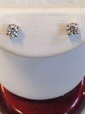 ESTATE .50Ct Natural VSI Diamond 14k Solid White Gold Stud Earrings