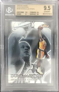 1999 Finest DM2 Shaquille O'neal Dunk Masters BGS 9.5 Gem Mint /750 HOF Lakers