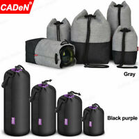 Waterproof Camera Lens Pouch Case Protective Bag For Canon Nikon Sony SLR DSLR