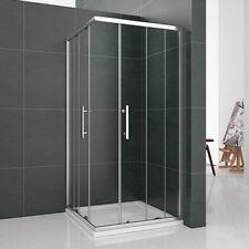Aica Chrome 900X900mm Corner Entry Shower Enclosure Sliding Glass Screen Cubicle