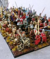 28mm Painted Miniature Knights Cavalry SAGA Lion Rampant DBM medieval crusaders