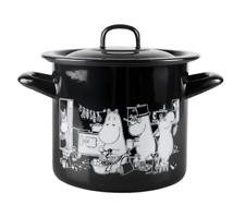 Moomins In The Kitchen Enamel 1.5 L Pot With Lid