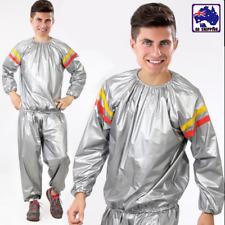 M-XXXL Sweat Sauna Suit Anti-Rip Gym Training Fitness Weight Loss PVC  CIR0009