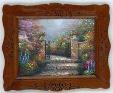 """Dollhouse Miniature Framed  Art  """"Garden Gate """"  Print"""