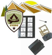 8 in 1 Multitool Survival Card; Tool - Kit aus Edelstahl im Scheckkarten-Format