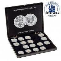 Leuchtturm 348033 Münzkassette für 20 Münzen American Silver Eagle in Kapseln