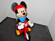 Mickey Mouse Bicycle Mickey Riding Animated Talking Musical Mattel Red Disney