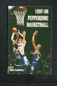 Pepperdine Waves--1997-98 Basketball Pocket Schedule