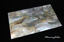 Black Mother of Pearl Coated Veneer Sheet (MOP Shell Overlay Inlay Abalone)