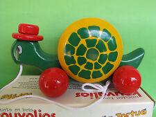 Vintage Rare Kouvalias Wooden Pull Toy Turtle No 396 NIB