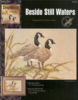 BESIDE STILL WATERS Geese Cross Stitch Pattern Ducks