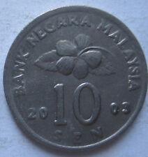 Malaysia 10 sen 2003 coin (B)