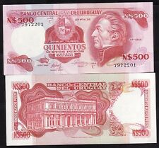 Uruguay n/d 1985, serie C - 500 Nuevos Pesos UNC Note Pick 63