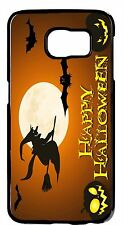 Funny Halloween Witch Bats Case For Samsung Galaxy & Note Rubber TPU /Hard Cover