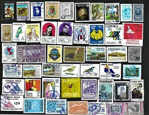 Costa Rica Stamps & Pictorials Used FREE Shipping U. S.