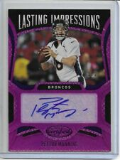 2020 Certified Lasting Impressions Autograph Peyton Manning Purple Parallel #1/2