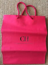 Carolina Harrera Paper Shopping Bag Red Logo Small Decor Storage