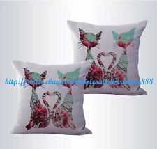 US SELLER-set of 2 shabby chic retro love cats couple cushion cover sofa pillow