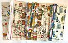Lot Never Used  Vintage Linen & Cotton Tea Towels Europe Souvenir Cannon
