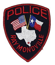 RAYMONDVILLE TEXAS TX Police Sheriff Patch STATE SHAPE OUTLINE CITY STAR FLAG ~