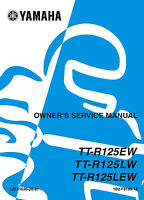 Yamaha TTR 125 EW etc 2006 Owners Service Manual, FREE SHIPPING
