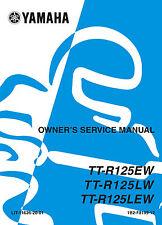 Yamaha TTR 125 EW etc 2006 Owners Service Manual, FREE SHIPPING