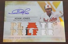 2015 Topps Triple Threads Relic Autographs Gold #TTARAJ3 Adam Jones #'d 3/9