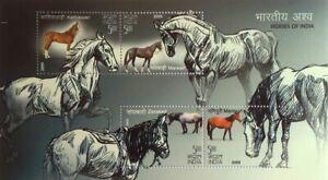 Horses, Farm Animals, Dancing Horse, India 2009 MNH SS