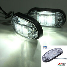 2 x 12V 2 SMD LED Bianco Indicatore Luci per IVECO DAF MAN SCANIA MERCEDES VOLVO