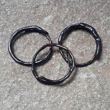 Black Coral Handmade Bangle Bracelet #1 3 Pcs Genuine Indonesia Akar Bahar