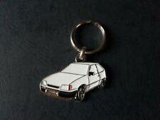 Porte-clés profil Opel Kadett GSi, Kadett E GTE 16V (blanc)