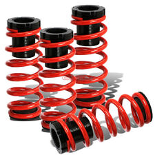 LOWERING SUSPENSION ADJUSTABLE COILOVER+RED SPRINGS FOR 85-98 VW GOLF/JETTA