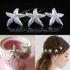 Wedding Rhinestone Hair Clip Crystal Starfish Hair Pin
