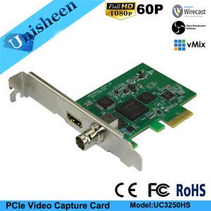 PCIe 60FPS HDMI SDI VIDEO CAPTURE Card Game Streaming Live Stream Broadcast 1080