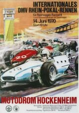 Original vintage poster GERMAN GP F2 HOCKENHEIM 1970