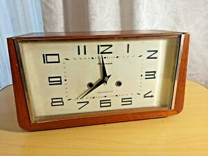 Vintage soviet table clock Jantar/