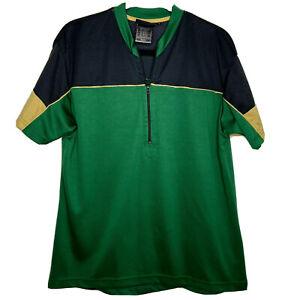 Fox Racing MTB Mountain Bike Cycling Jerseys 1/2 Zip Short Sleeve Large L Green