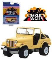 CHARLIE'S ANGELS Model DieCast JEEP CJ-5 by JULIE ROGER Scale 1/64 Greenlight