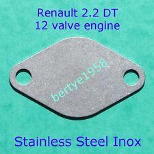 EGR valve blanking plate ESPACE LAGUNA SAFRANE 2.2 DT G8T 12 valve 2.1 j8s