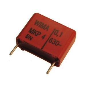 4 WIMA Polypropylen Folienkondensator Kondensator MKP4 630V 0,1uF 15mm 089698