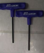 """Allen 57638 5mm Cushion Grip T Handle 6"""" Length Hex With Ball End 2pc USA"""