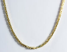 12.80 gm Solid 14k Gold Yellow Men's Byzantine Chain Necklace Women's 2 mm 22""