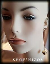 """ROSE GOLD  SILVER METAL 18MM BALL 3"""" CHAIN LINK DANGLE DROP EARRINGS NEW"""