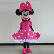 New Pink Minnie Mouse Mascot Costume Character Cosplay Fancy Dress Adult Outfit
