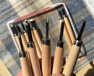 Lino cutter set 12 Piece  hardened steel tipswith free x 6 set FREE