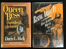Lot 2 Women Aviation!! QUEEN BESS inscribed copy! RISING ABOVE IT Whyte HCDJ
