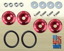 JDM Quick Release Fastener Bolt Red Kit for Honda Acura Toyota Mazda Nissan