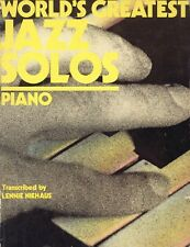 World's Greatest Jazz Solos - Piano by Lennie Niehaus